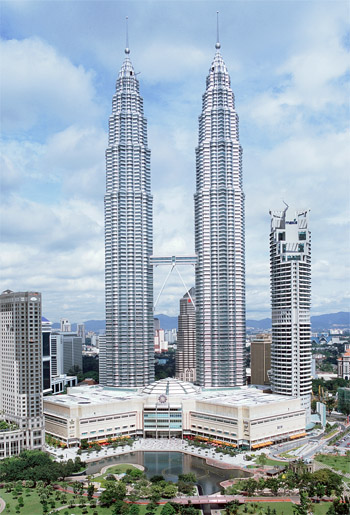 Petronas Twin Towers in Kuala Lumpur